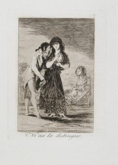 Ni asi la Distingue - Original Etching by Francisco Goya - 1799