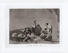 No hay que dar Voces  - Original Etching by Francisco Goya - 1863