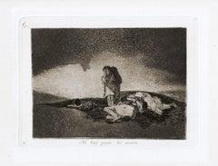 No Hay Quien lo Socorra  - Original Etching by Francisco Goya - 1863