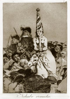No Hubo Remedio - Original Etching by Francisco Goya - 1868