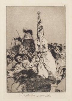 No Hubo Remedio - Original Etching by Francisco Goya - 1868
