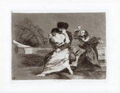 No Quiren    - Original Etching by Francisco Goya - 1863