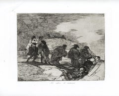 No Saben El Camino  - Original Etching by Francisco Goya - 1863