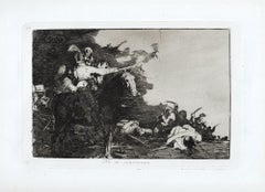 No se Convienen - Original Etching by Francisco Goya - 1863