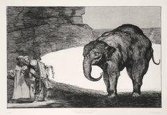 Otras Leyes por El Pueblo - Original Etching by F. Goya - 1877