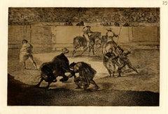 """Pepe Illo hacienda el recorte al toro  (Pepe Illo making the pass of the """"recort"""