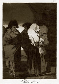 ¡Pobrecitas! - Original Etching by Francisco Goya - 1868