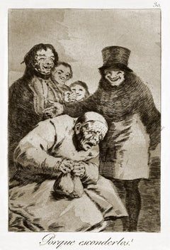 ¿Por qué esconderlos?   - Origina Etching by Francisco Goya - 1868