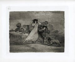 Qué alboroto es éste?   - Original Etching by Francisco Goya - 1863