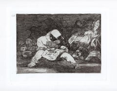 Que Locura - Original Etching by Francisco Goya - 1863