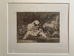 Que Locura - Original Etching by Francisco Goya - 1863
