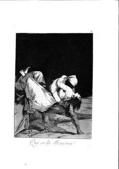Que se la Llevaron! - Original Etching by Francisco Goya - 1799
