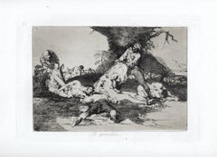 Se Aprovechan    - Original Etching by Francisco Goya - 1863