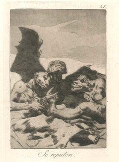 Se Repulen - Original Etching and Aquatint by Francisco Goya - 1908/12