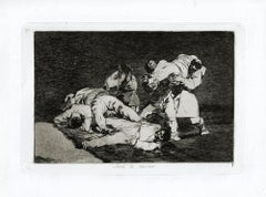 Serà lo Mismo  - Original Etching by Francisco Goya - 1863