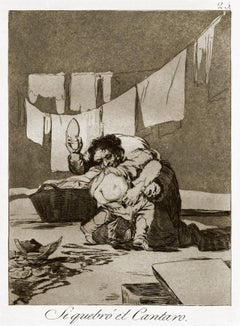 Si quebró el Cántaro - Original Etching by Francisco Goya - 1868