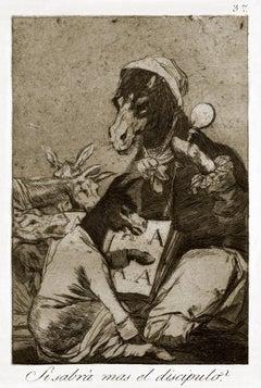 ¿Si sabra más el discípulo?  - Origina Etching by Francisco Goya - 1868