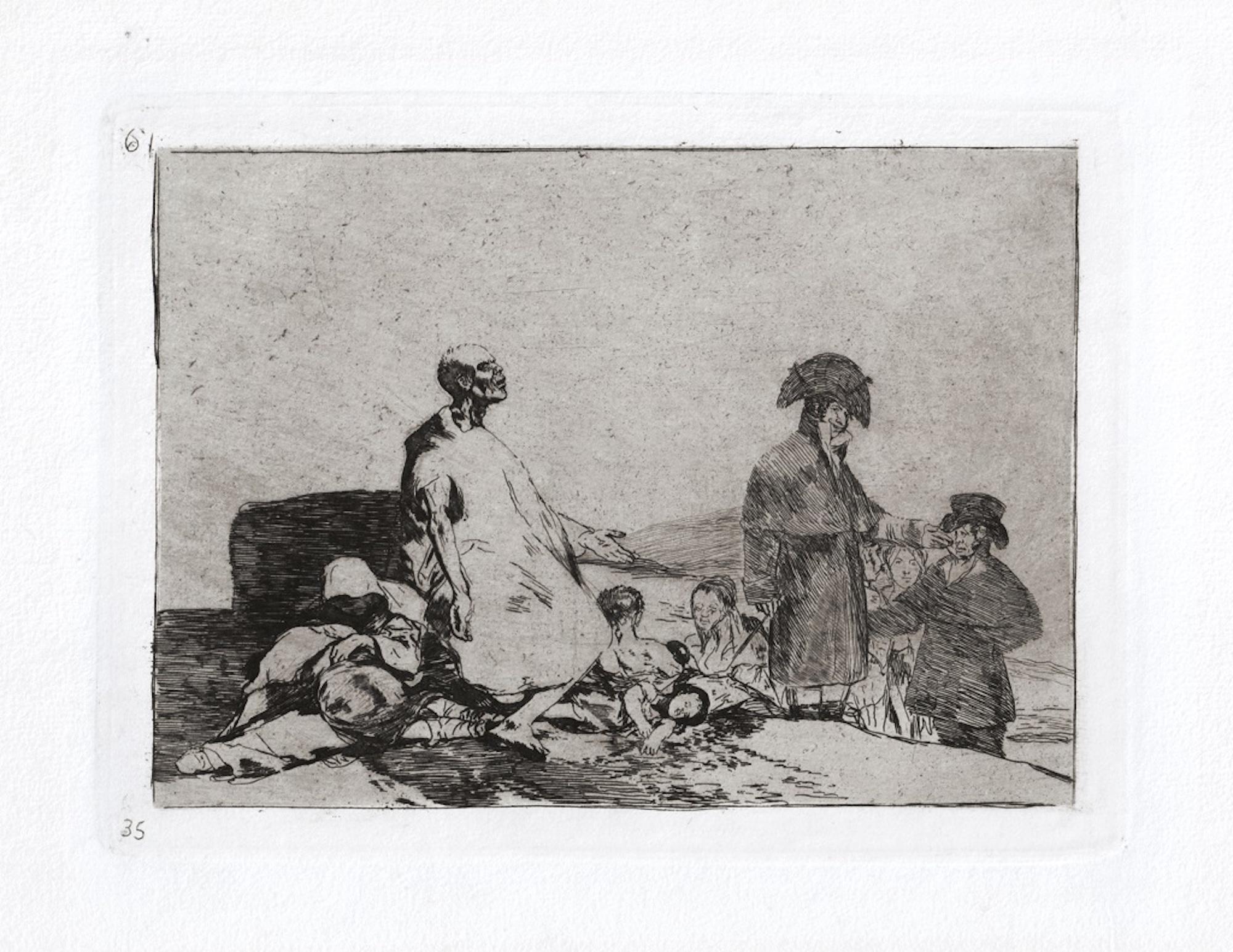 Si Son de Otro Linage   - Original Etching by Francisco Goya - 1863