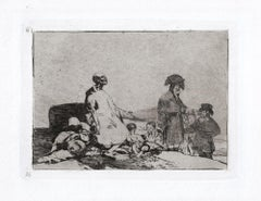 Si Son de Otro Linage   - Original Etching by Francisco Goya - 1863