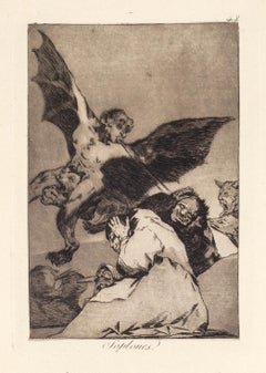 Soplones  - Original Etching and Aquatint by Francisco Goya - 1868