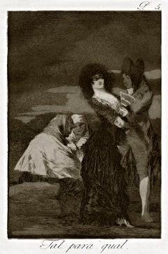 Tal Para Qual - Origina Etching by Francisco Goya - 1868