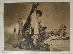 Tampoco   - Original Etching by Francisco Goya - 1863