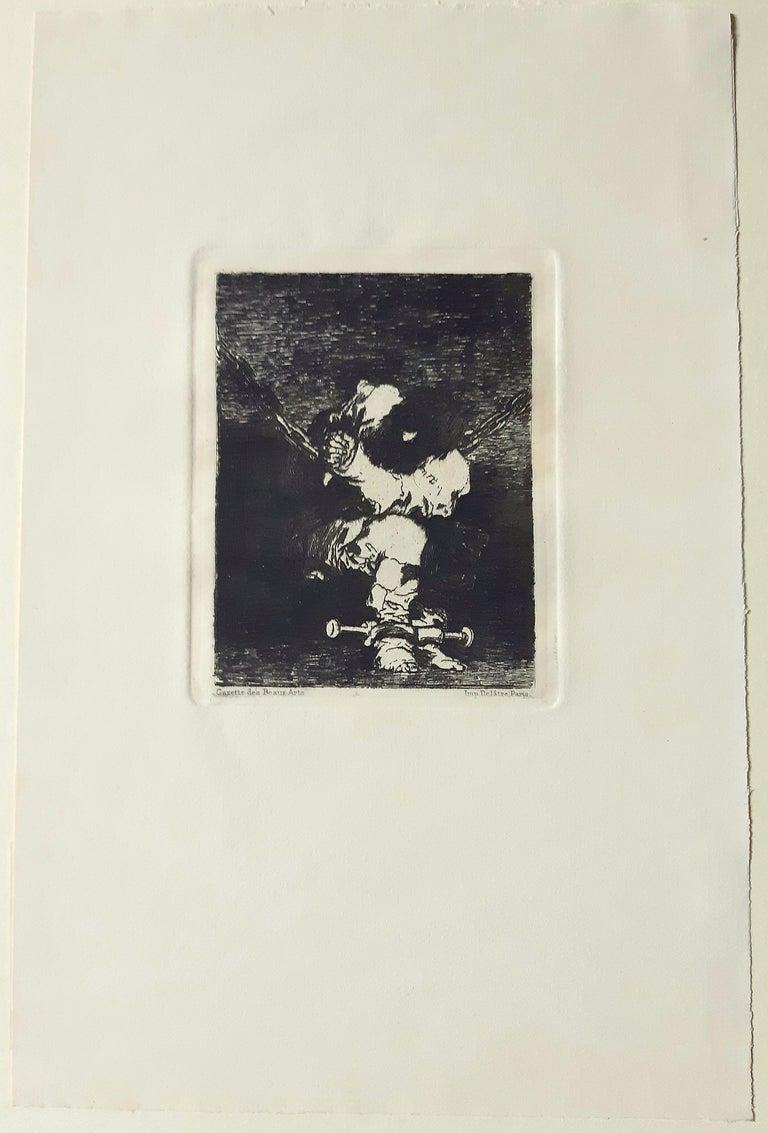 Tan Barbara la Seguridad Como el Delito - Etching by Francisco Goya - 1867 For Sale 1