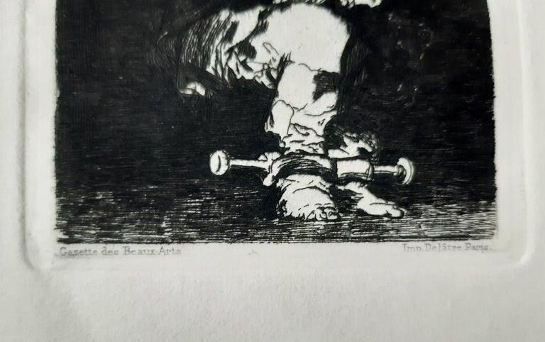 Tan Barbara la Seguridad Como el Delito - Etching by Francisco Goya - 1867 For Sale 2