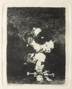 Tan Barbara la Seguridad Como el Delito - Etching by Francisco Goya - 1867