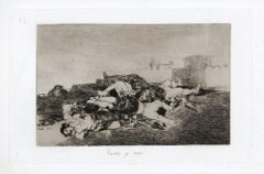 Tanto y mas   - Original Etching by Francisco Goya - 1863