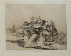 Todo va Revuelto   - Original Etching by Francisco Goya - 1863