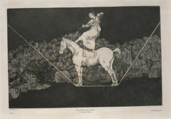 Una Reïna del Circo - Orginal Etching by F. Goya