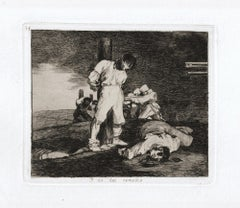 Y no hai Remedio   - Original Etching by Francisco Goya - 1863