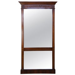 Francisco Hurtado Mahogany French Neoclassical Full Length Pier Dressing Mirror