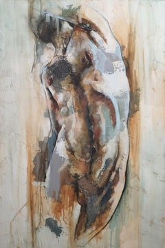 Ademán by F. Jimenez Contemporary Mixed Media, Abstract Nude Figurative painting