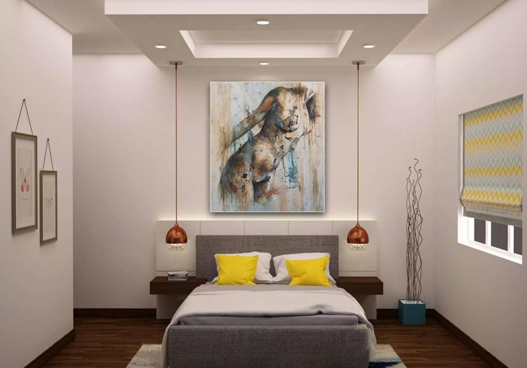 Preludio by Francisco Jimenez - Modern Abstract Nude Figurative Painting For Sale 2