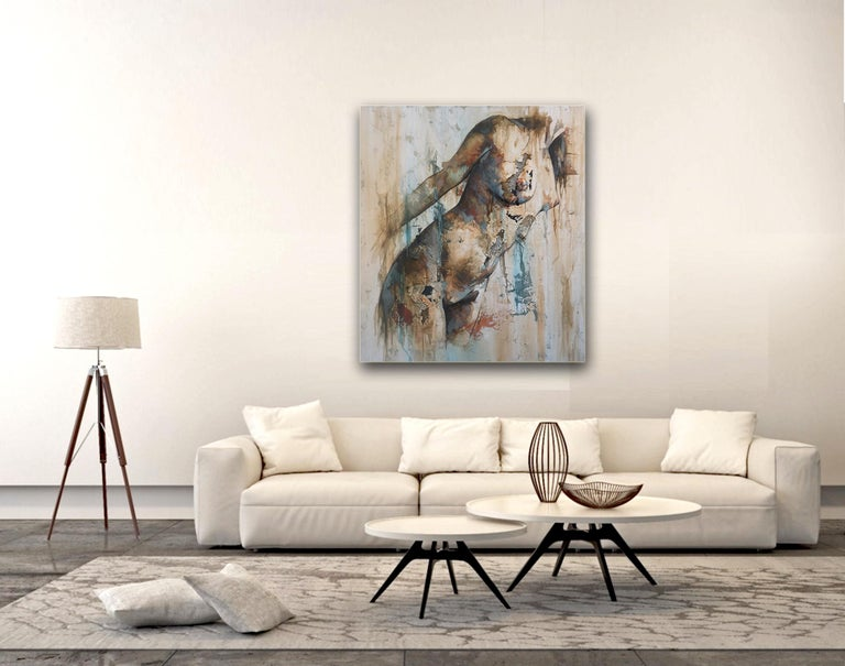 Preludio by Francisco Jimenez - Modern Abstract Nude Figurative Painting For Sale 3