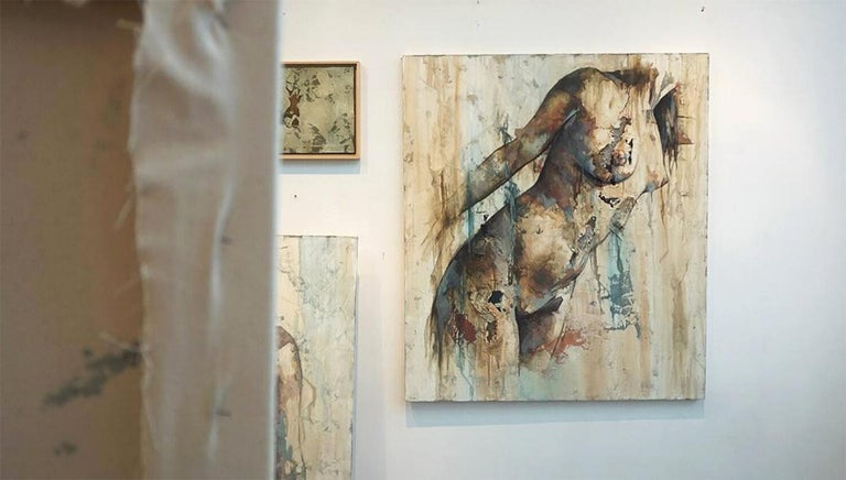 Preludio by Francisco Jimenez - Modern Abstract Nude Figurative Painting For Sale 5