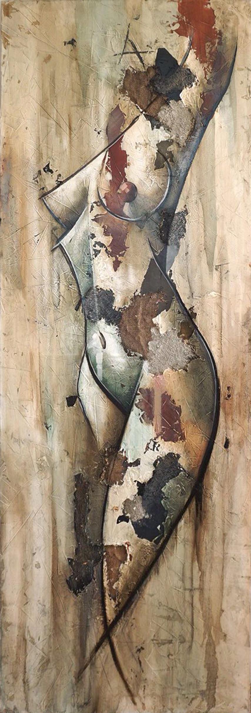Silhoutte by Francisco Jimenez - Mid-Century Modern Nude Figurative Painting