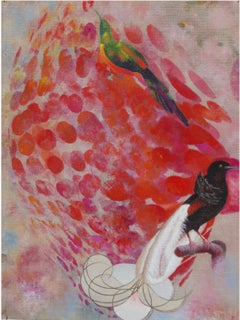 Birds 005- Contemporary, Abstract, Expressionist, Modern, Street art, Surrealist