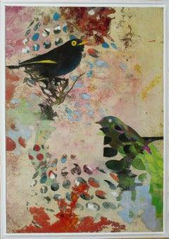 Birds 19a- Contemporary, Abstract, Expressionist, Modern, Street art, Surrealist