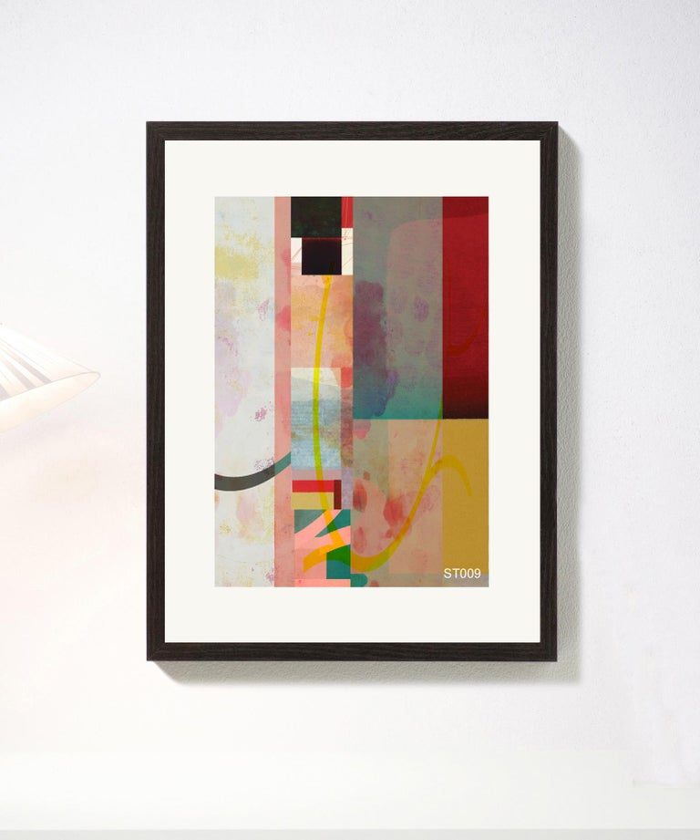 Abstract-Contemporary, Abstract, Expressionism, Modern, Pop art, , Geometric - Print by Francisco Nicolás