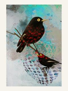 Birds 002 -Contemporary, Abstract, Modern, Pop art, Surrealist, Landscape