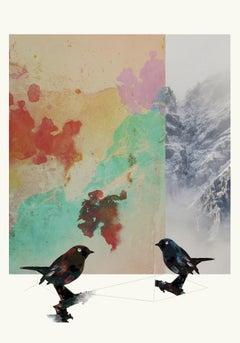 Birds 1 -Contemporary , Abstract, Gestual, Street art, Pop, Modern, Geometric
