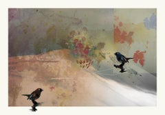 Birds 3 -Contemporary , Abstract, Gestual, Street art, Pop, Modern, Geometric