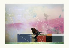 Birds 5 -Contemporary , Abstract, Gestual, Street art, Pop, Modern, Geometric