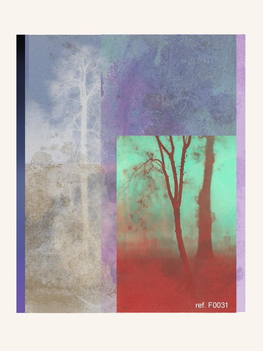 Blue landscape - Contemporary, Abstract, Modern, Pop art, Surrealist, Landscape