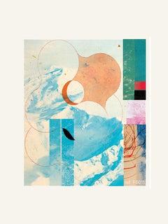Blue mountain - Contemporary, Abstract, Modern, Pop art, Surrealist, Landscape