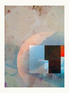 Blue Mountain II- Contemporary, Abstract, Modern, Pop art, Surrealist, Landscape