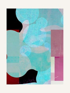 Blue & pink - Contemporary, Abstract, Expressionism, Modern, Pop art, Geometric